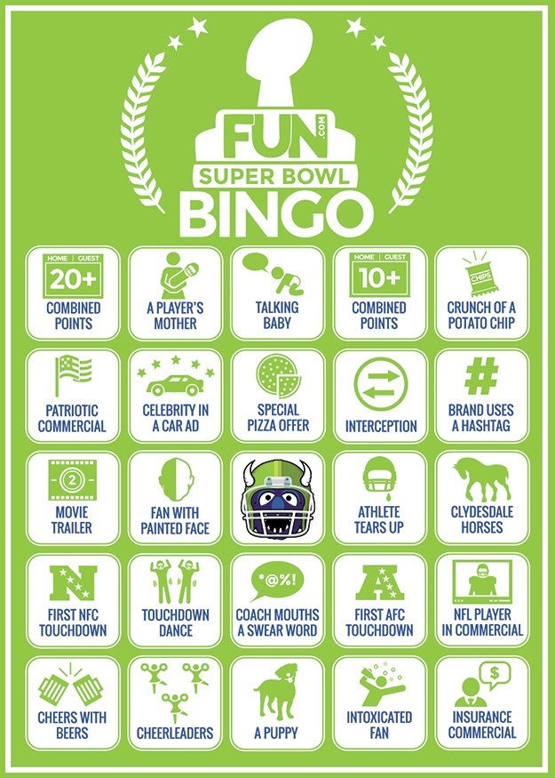 Fun.com Super Bowl Bingo