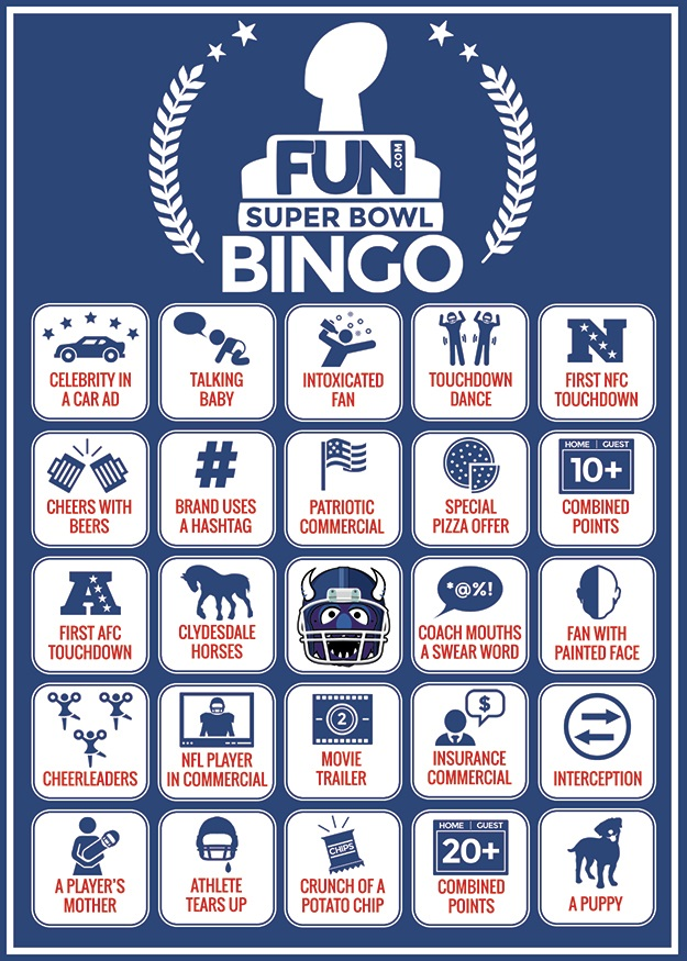 Printable Super Bowl Bingo Card