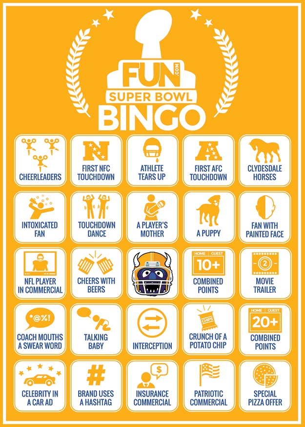 Super Bowl Bingo idea