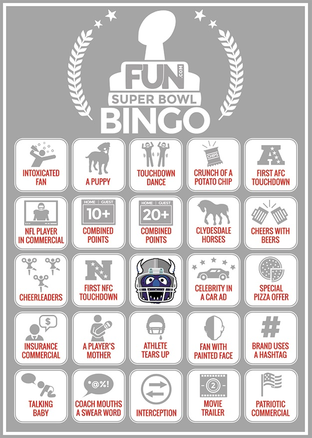 Printable Football Bingo Sheet