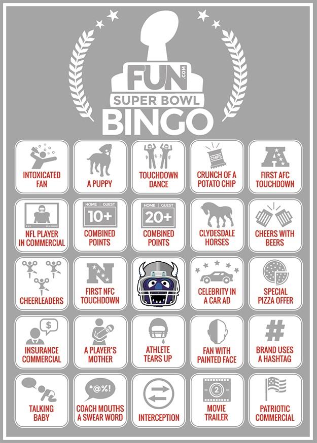 Printable Football Bingo Sheet