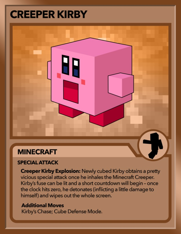 Kirby as Creeper from Minecraft