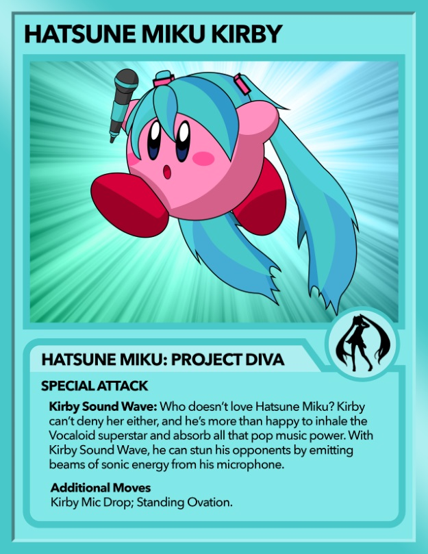 Kirby as Hatsune Miku