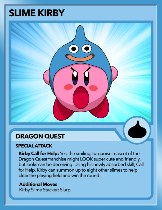 Kirby as a Dragon Quest Slime