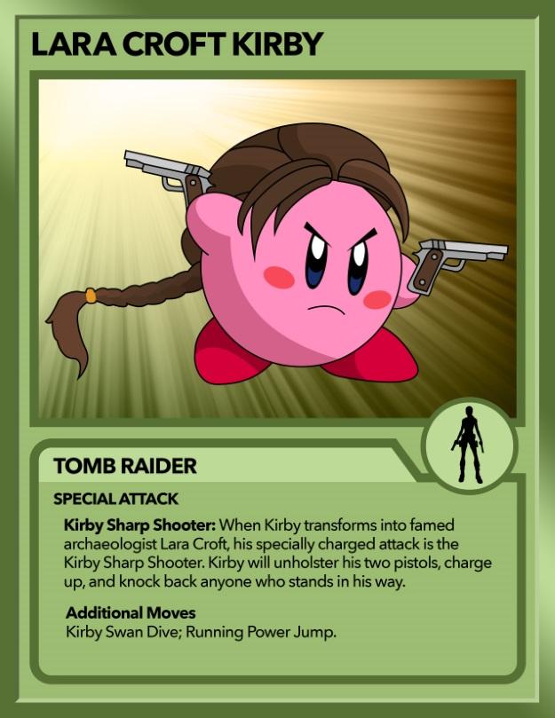 Kirby as Lara Croft from Tomb Raider