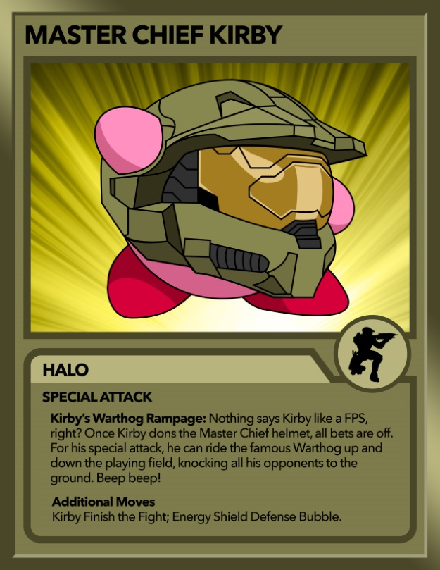 Kirby as Master Chief from Halo