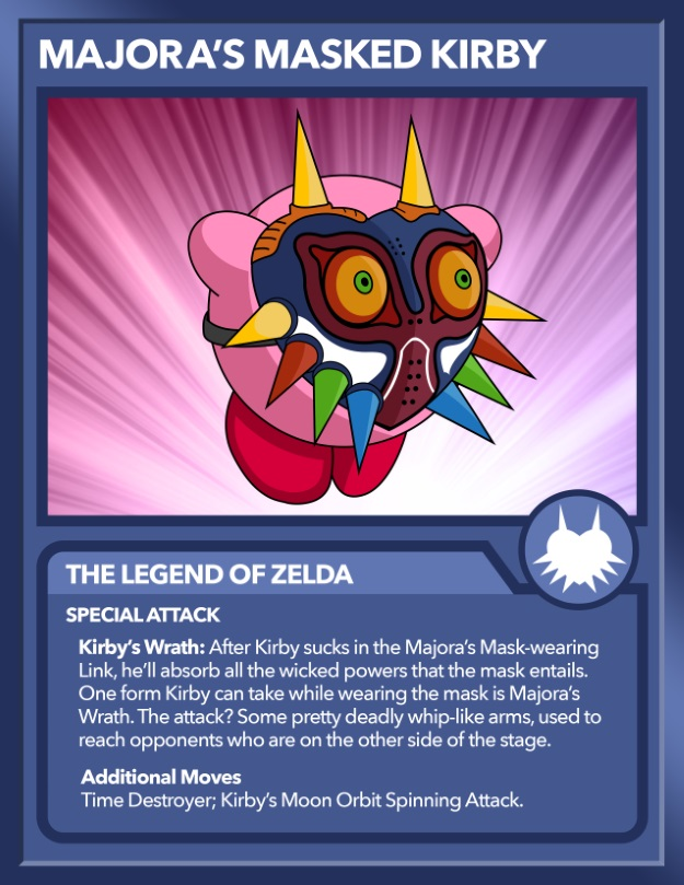 Kirby as Majora's Mask from Zelda
