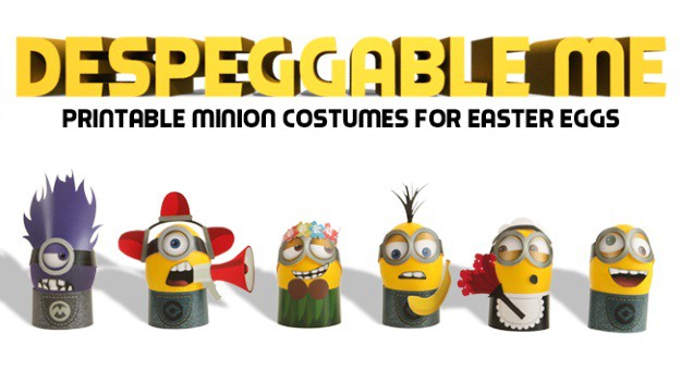 picture about Minion Template Printable identified as DespEGGable Me: Do it yourself Minion Costumes for Easter Eggs
