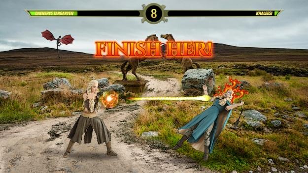 Daenerys Targaryen versus Daenerys Targaryen MKX Mashup