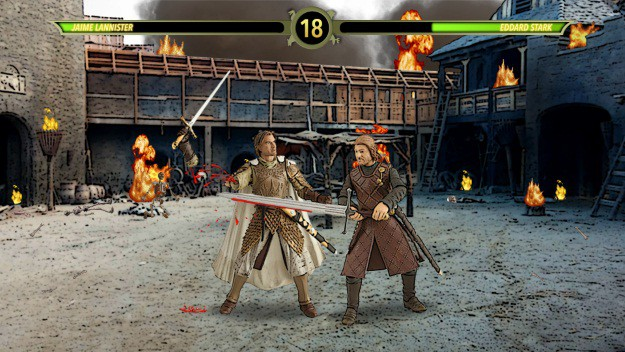 Ned Stark versus Jaime Lannister MKX Mashup