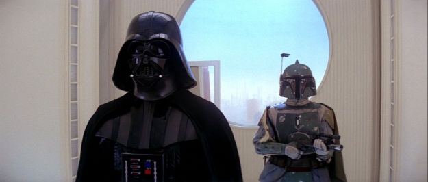 Star Wars Vader and Boba Fett Film Still