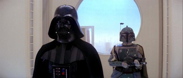 Star Wars Vader and Boba Fett Film Still
