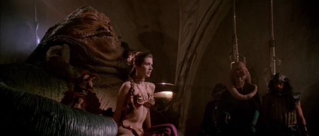 Jabba The Hutt and Slave Leia Film Still
