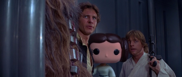 Princess Leia Pop Vinyl Photobomb