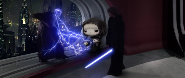 Palpatine Star Wars Pop Vinyl Photobomb