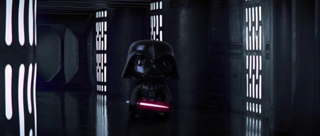Darth Vader Pop Vinyl Photobomb