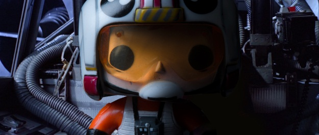 Luke Skywalker Pop Vinyl Photobomb