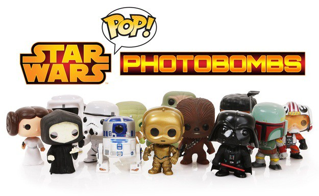 Star Wars Pop Vinyl Photobombs