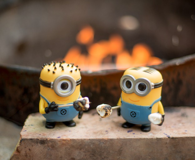 Minions Making Smores