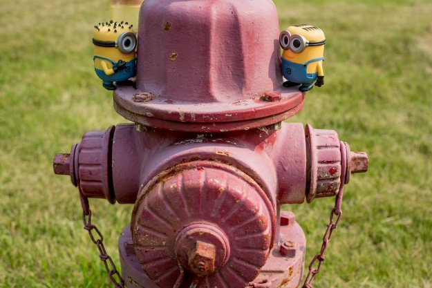 Minions on a Fire Hydrant