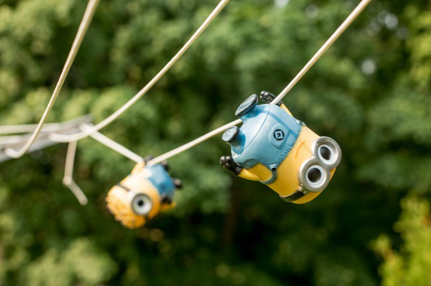 Minions on a Zip Line