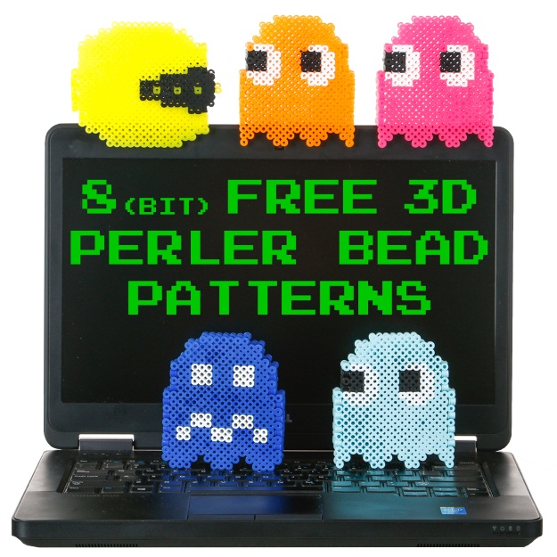 8(bit) Free 3D Perler Bead Patterns [Printables] - Fun Blog