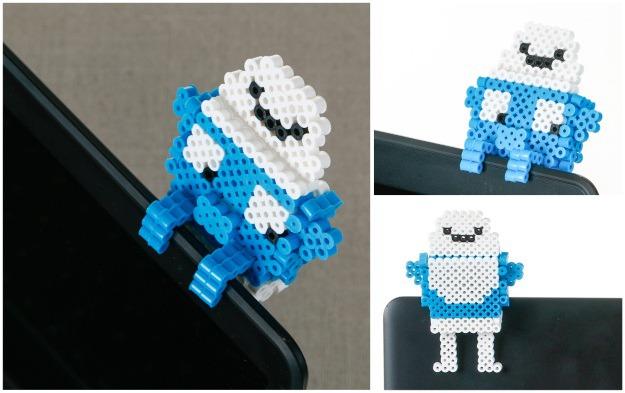 3D Smurf Perler Beads