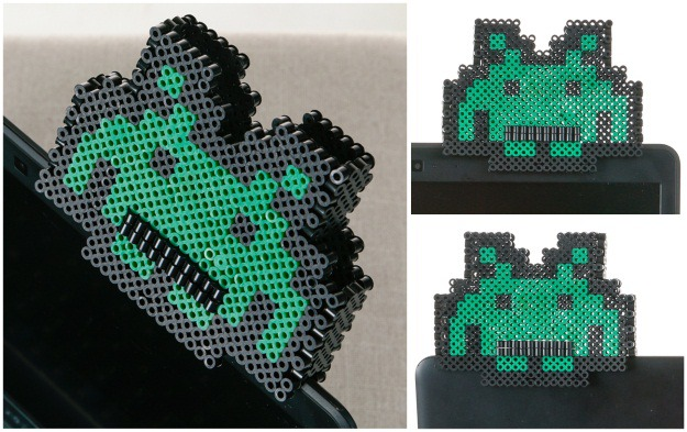 Computer Sitter Space Invaders Perler