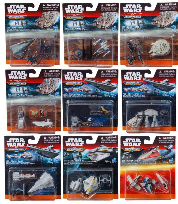 Star Wars Micro Machine Ship 3 Packs