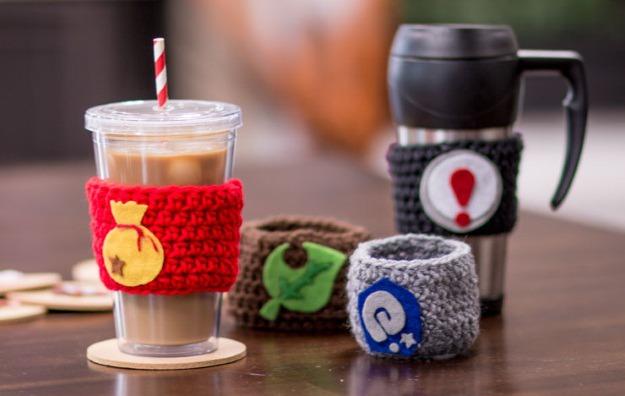 Animal Crossing Coffee Cozies