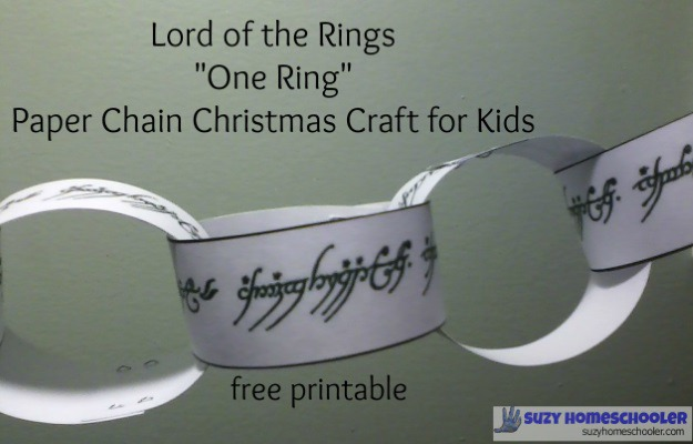 Lord of the Rings paper chain