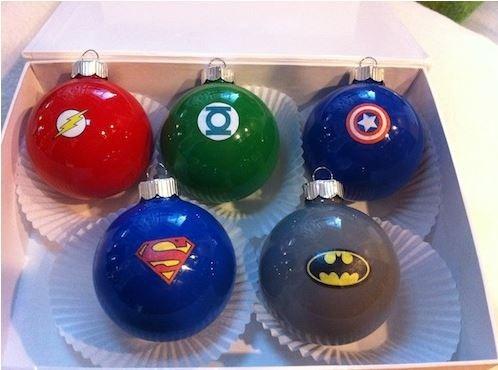 Superhero Christmas Ornaments DIY