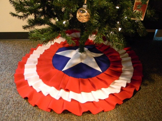 Captain America Tree Skirt Craft