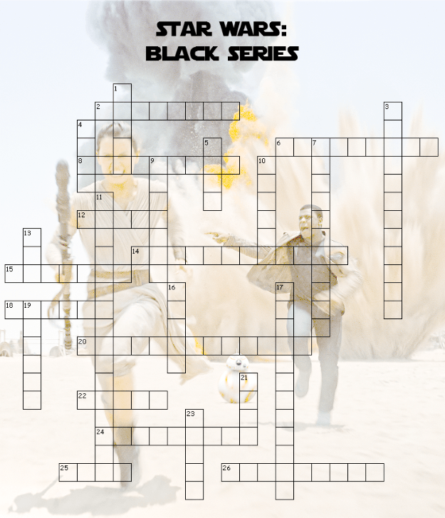 Star Wars Black Series Crossword