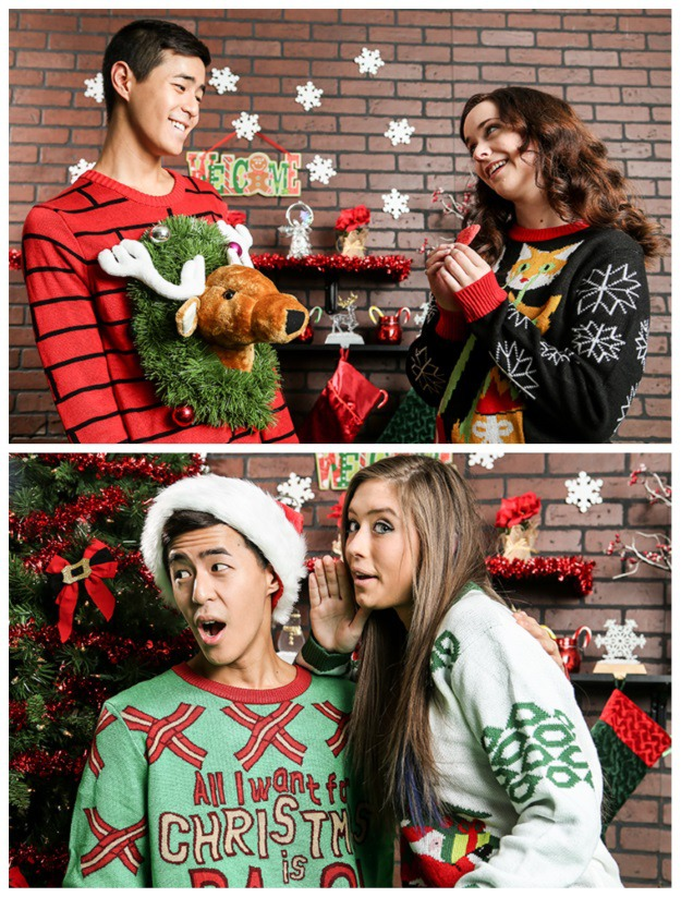 Ideas For A Ugly Christmas Sweater Party Part - 30: Ugly Christmas Sweater Ideas For Couples