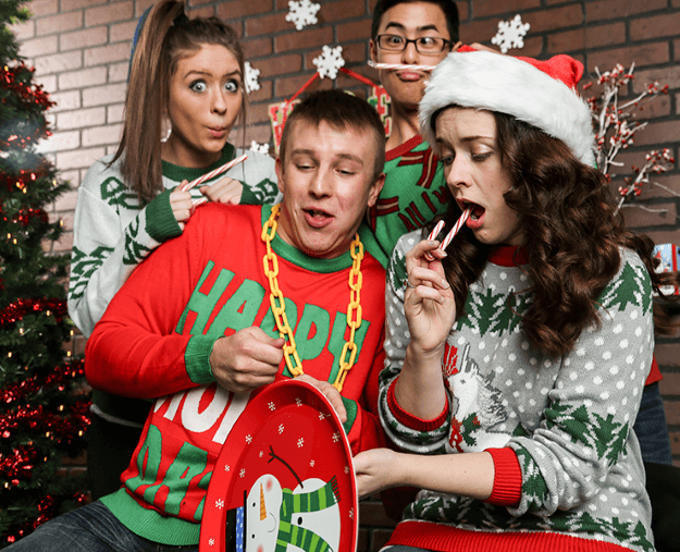 Awkward Ugly Christmas Sweater Family Pictures