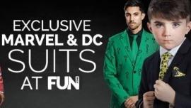 Exclusive Comic Book Suits at Fun.Com