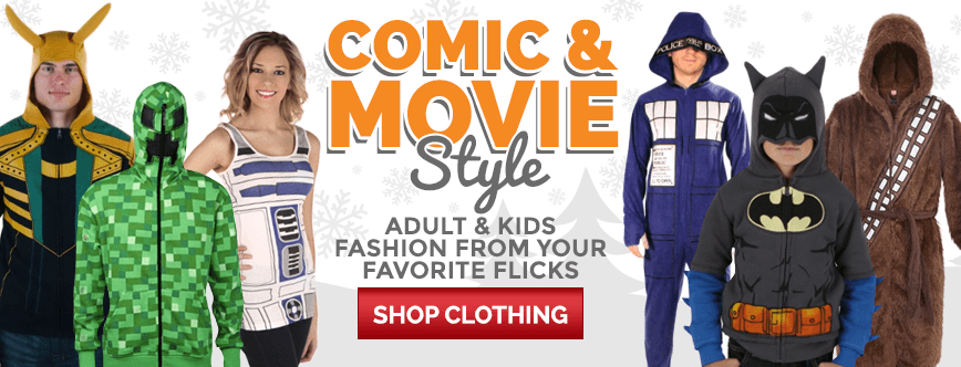 Comic and Movie Style! Adult and Kids Fashion From Your Favorite Flicks