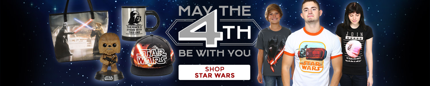 May the 4th be with you! Shop Star Wars