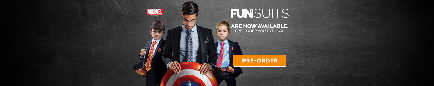 Fun Suits are now available. Pre-order yours today.