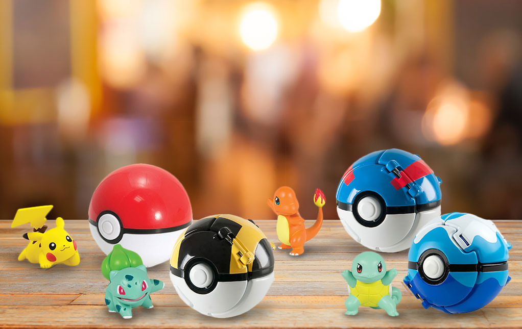 Pokémon Action Figures with Poké Ball