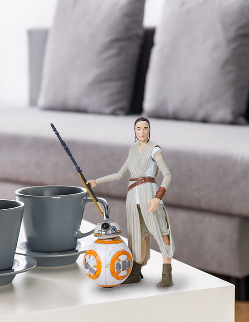 Rey and BB-8 Black Series Figures