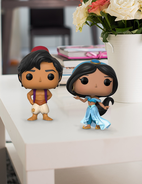 Aladdin and Jasmine Pop Vinyl Figures