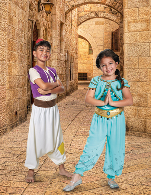Kid's Jasmine and Aladdin Costumes