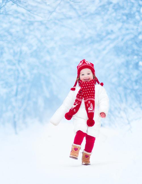 Snowy Portrait with Christmas Gear