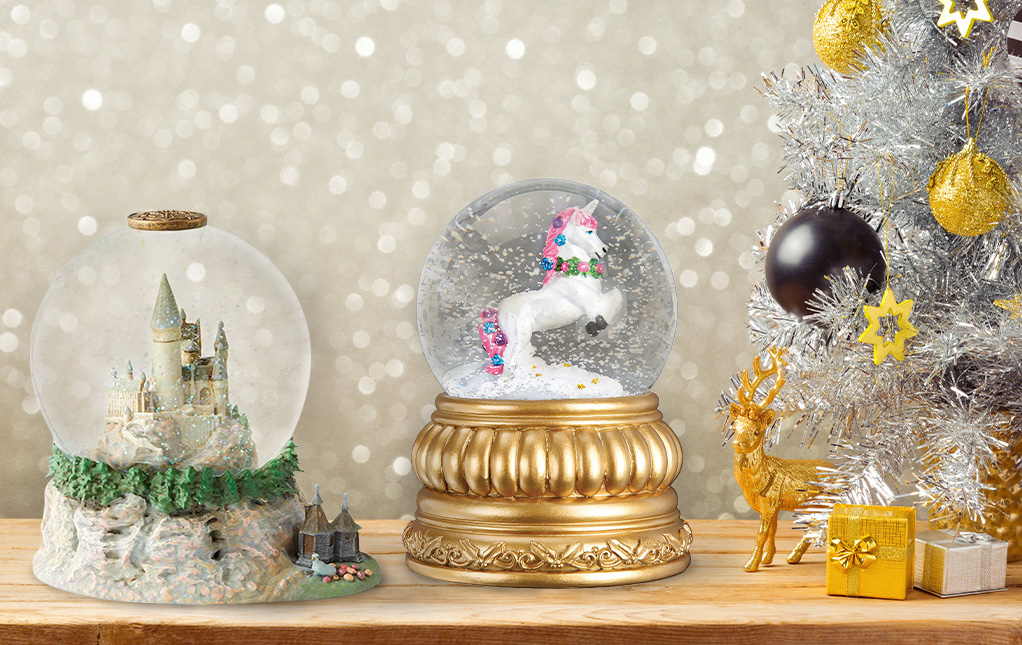 Musical Christmas Snow Globes