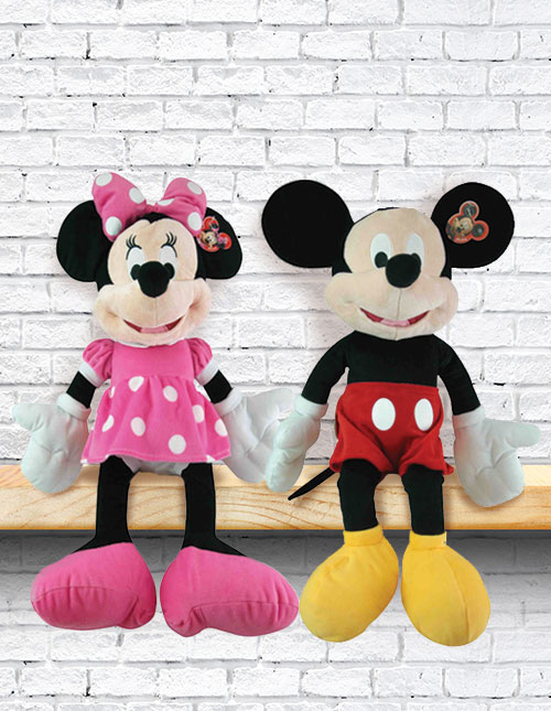Mickey and Minnie Plush Toys