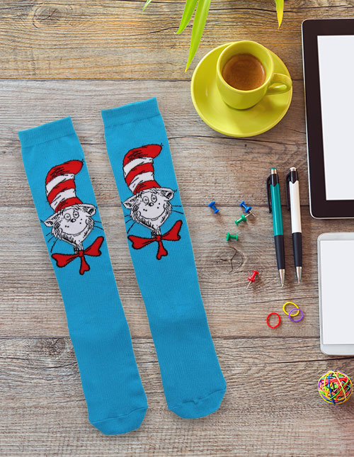 Cat in the Hat Socks