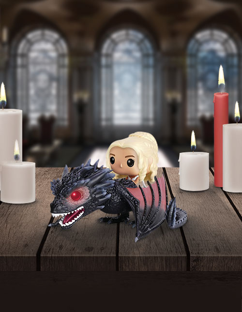 Daenerys and Drogon Game of Thrones POP! Figure