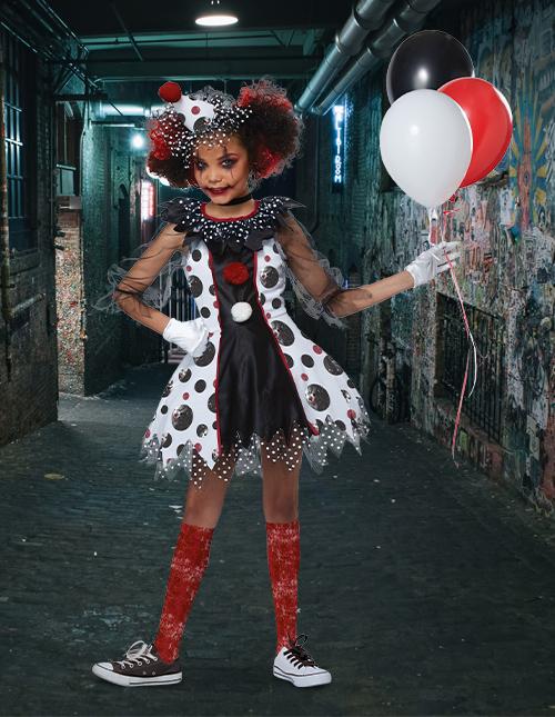 Girl's Clown Costume